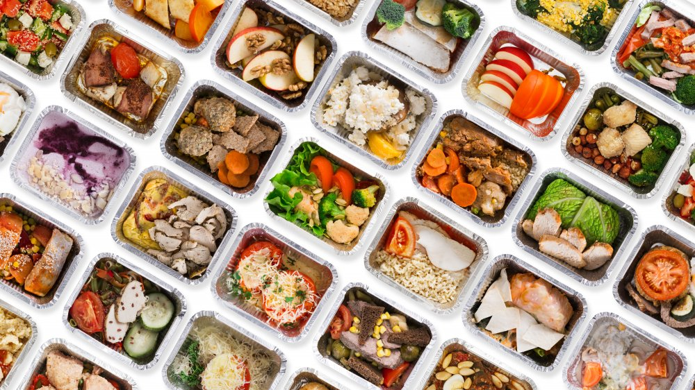 A selection of pre-packaged, healthy meals