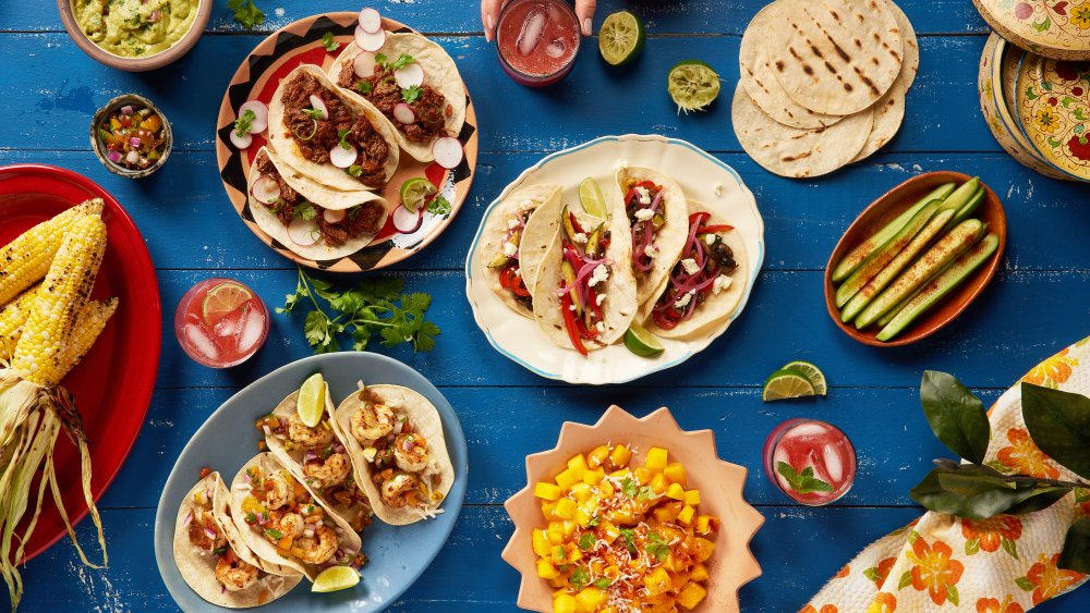 Mexican feast of different foods